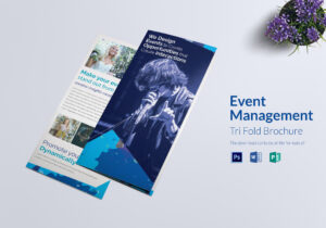 Event Management Tri Fold Brochure Template for Tri Fold Brochure Publisher Template