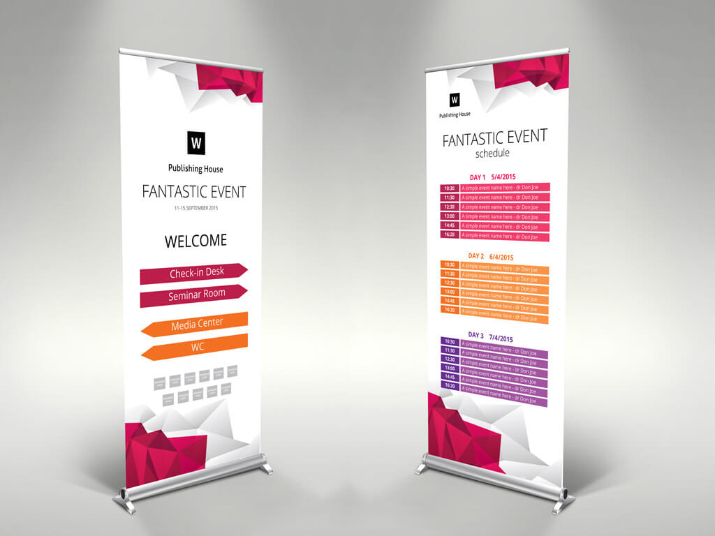 Event Roll Up Banner Template – Themzy Templates With Regard To Event Banner Template