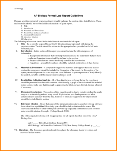 Example Introduction For Biology Lab Report Examples Of Formal for Biology Lab Report Template