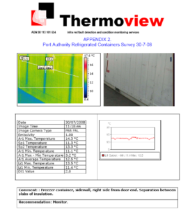 Example Of A Page Of The Report Containing The Thermographic for Thermal Imaging Report Template