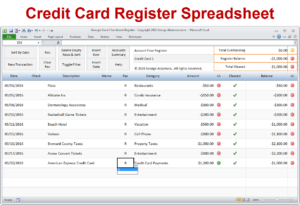 Excel Checkbook Software – Spreadsheet Template pertaining to Credit Card Payment Spreadsheet Template
