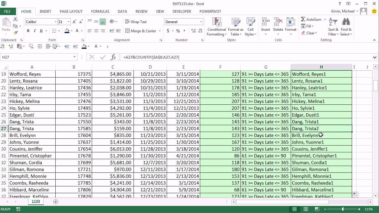 Excel Magic Trick 1133: Aging Accounts Receivable Reports: Pivottable &  Unique Identifier For Ar Report Template