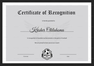 Excellent Coach Football Certificate Design Template In Psd Regarding Football Certificate Template