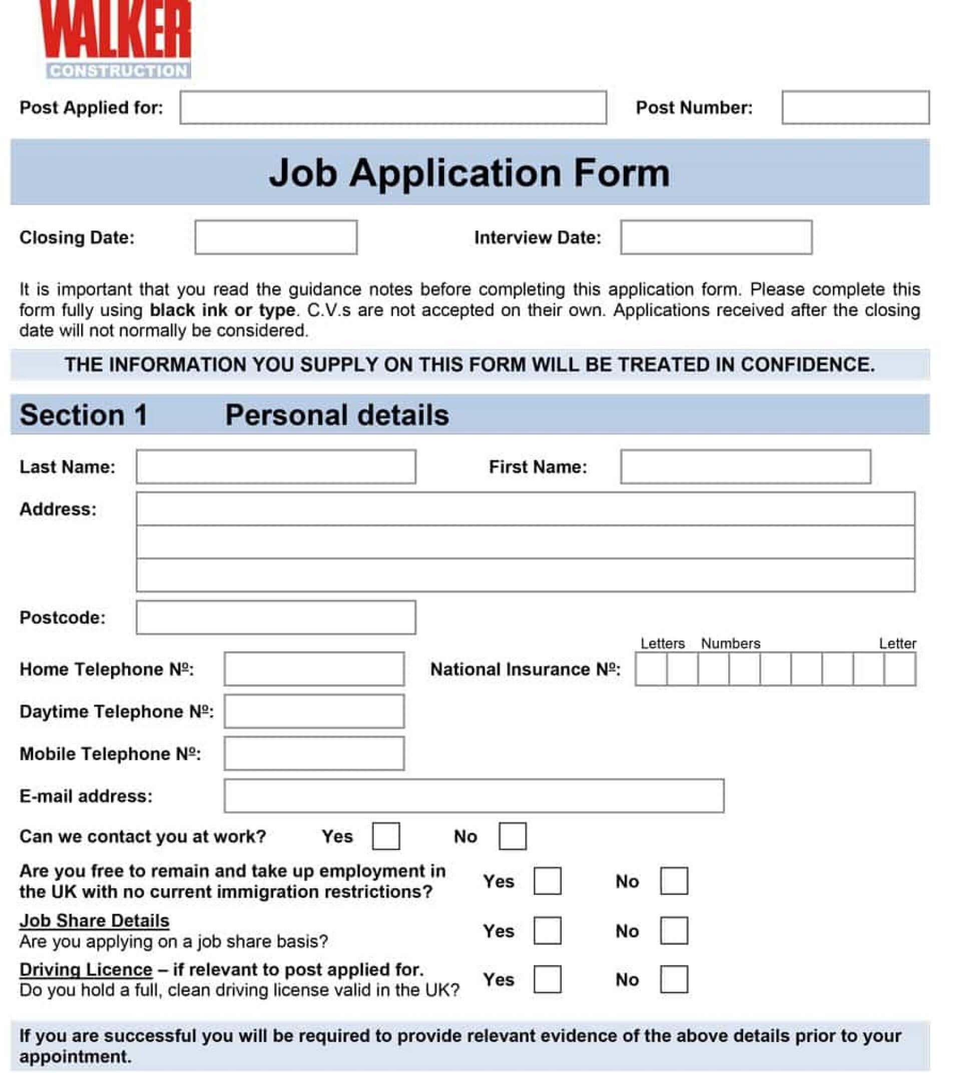 Exceptional Employment Application Template Free Ideas Pertaining To Word Employee Suggestion Form Template