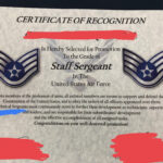 Excited For My Promotion To Sta— Uhh : Airforce Regarding Officer Promotion Certificate Template