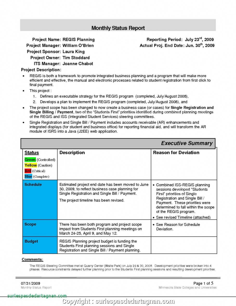 Executive Sales Manager Report Example Monthly Report With Sales Manager Monthly Report Templates