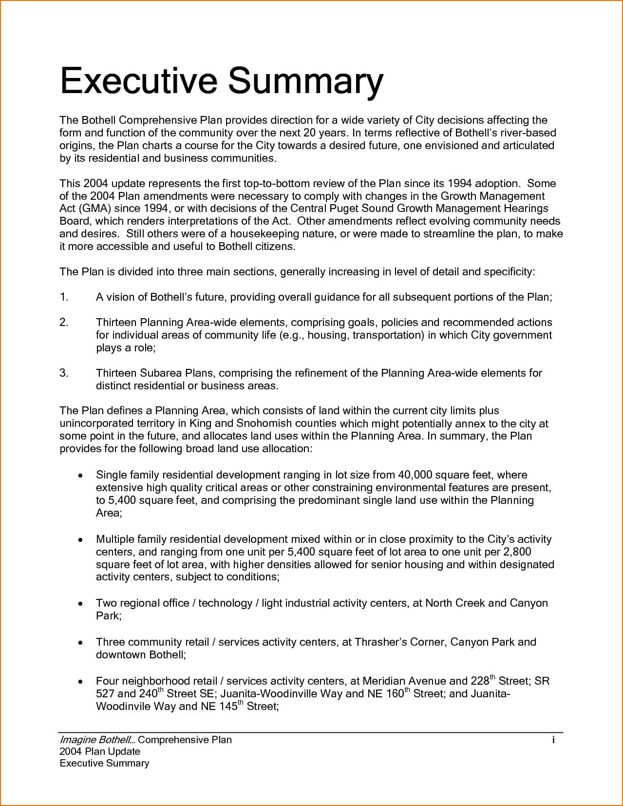 Executive Summary Example Incident Report Template Sample Pertaining To Executive Summary Report Template