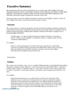Executive Summary Example Market Research Report Template Regarding Incident Summary Report Template