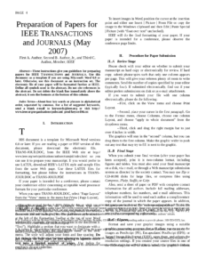 Exemplo De Artigo Ieee – Docsity in Ieee Template Word 2007