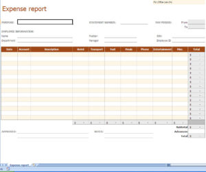 Expense Report Excel Template | Reporting Expenses Excel within Expense Report Spreadsheet Template Excel