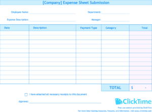 Expense Report Template | Track Expenses Easily In Excel within Company Expense Report Template