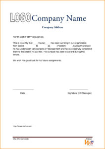 Experience Certificate Format Driverdoc New Experience throughout Template Of Experience Certificate