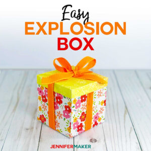 Explosion Box Card Tutorial: Endless Box – Free Svg File in Free Svg Card Templates