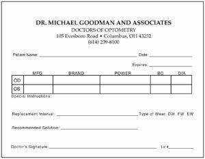 Eye Doctor Prescription Template | Template Modern Design intended for Doctors Prescription Template Word