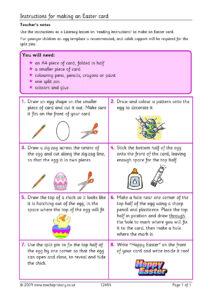 Eyfs | Ks1 | Ks2 | Instructions | Teachit Primary inside Easter Card Template Ks2