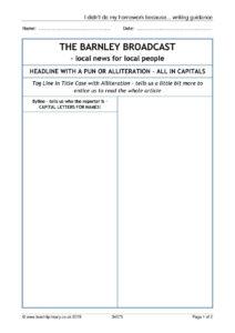 Eyfs | Ks1 | Ks2 | Newspapers | Teachit Primary regarding Report Writing Template Ks1