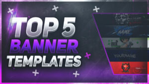 📸 Top 5 Free Youtube Banner Templates #16 | Free Download! within Youtube Banners Template