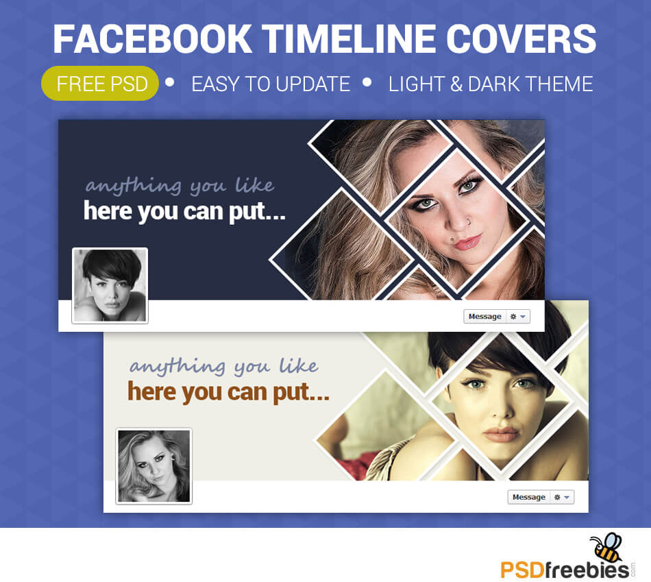 Facebook Timeline Covers Free Psd | Psdfreebies For Facebook Banner Template Psd