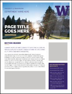 Fact Sheet | Uw Brand with Fact Sheet Template Word