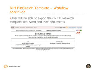 Faculty Activity Information Reporting System – Ppt Download With Regard To Nih Biosketch Template Word