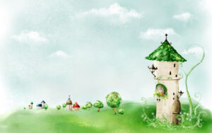 Fairy Tale Tower Wallpaper #1527 | Backgrounds In 2019 inside Fairy Tale Powerpoint Template