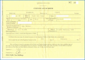 Fake Birth Certificate Template Unanalyzable Kenyan Birth regarding Fake Birth Certificate Template