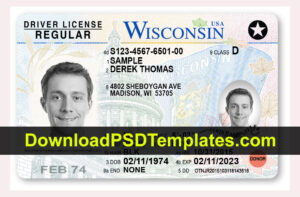 Fake Driving License Templates [Psd Files] throughout Georgia Id Card Template