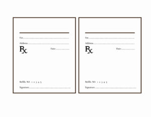 Fake Prescription Label Template | Template Modern Design with regard to Blank Prescription Pad Template