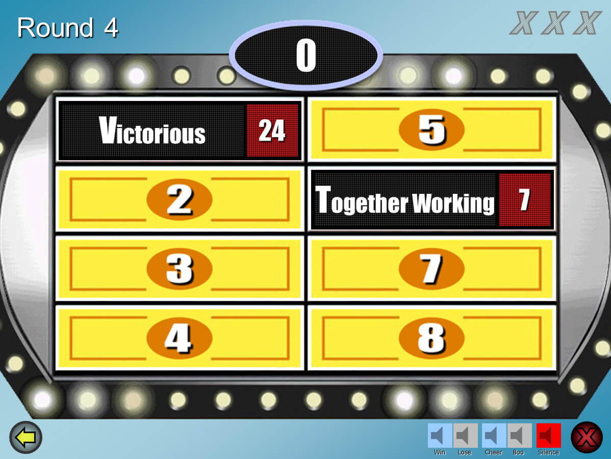 Family Feud Customizable Powerpoint Template - Youth Within Family Feud Powerpoint Template With Sound