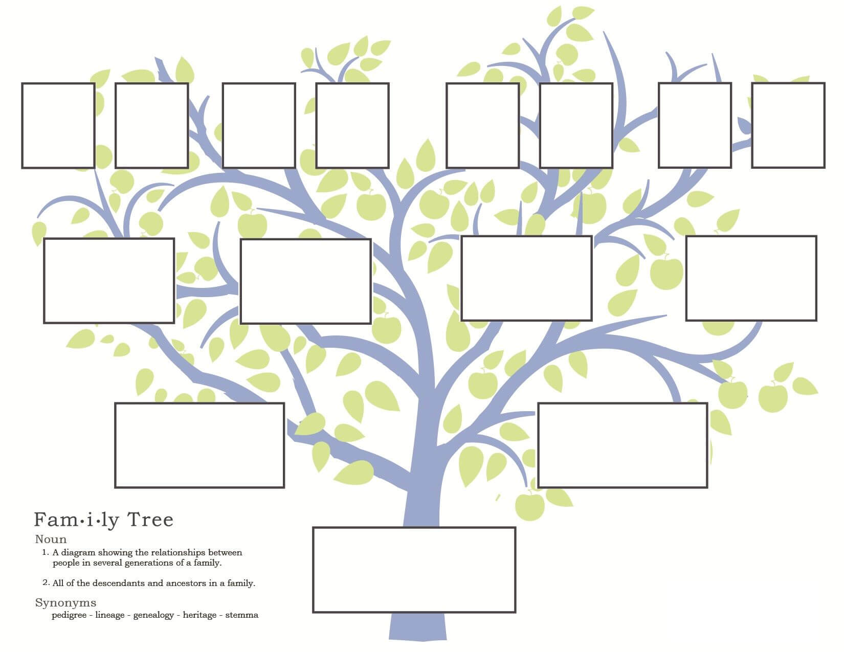 Family History Activities For Children: 3 11   Familysearch For Blank Family Tree Template 3 Generations