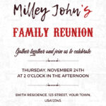 Family Reunion Invitation Card Template Within Reunion Invitation Card Templates