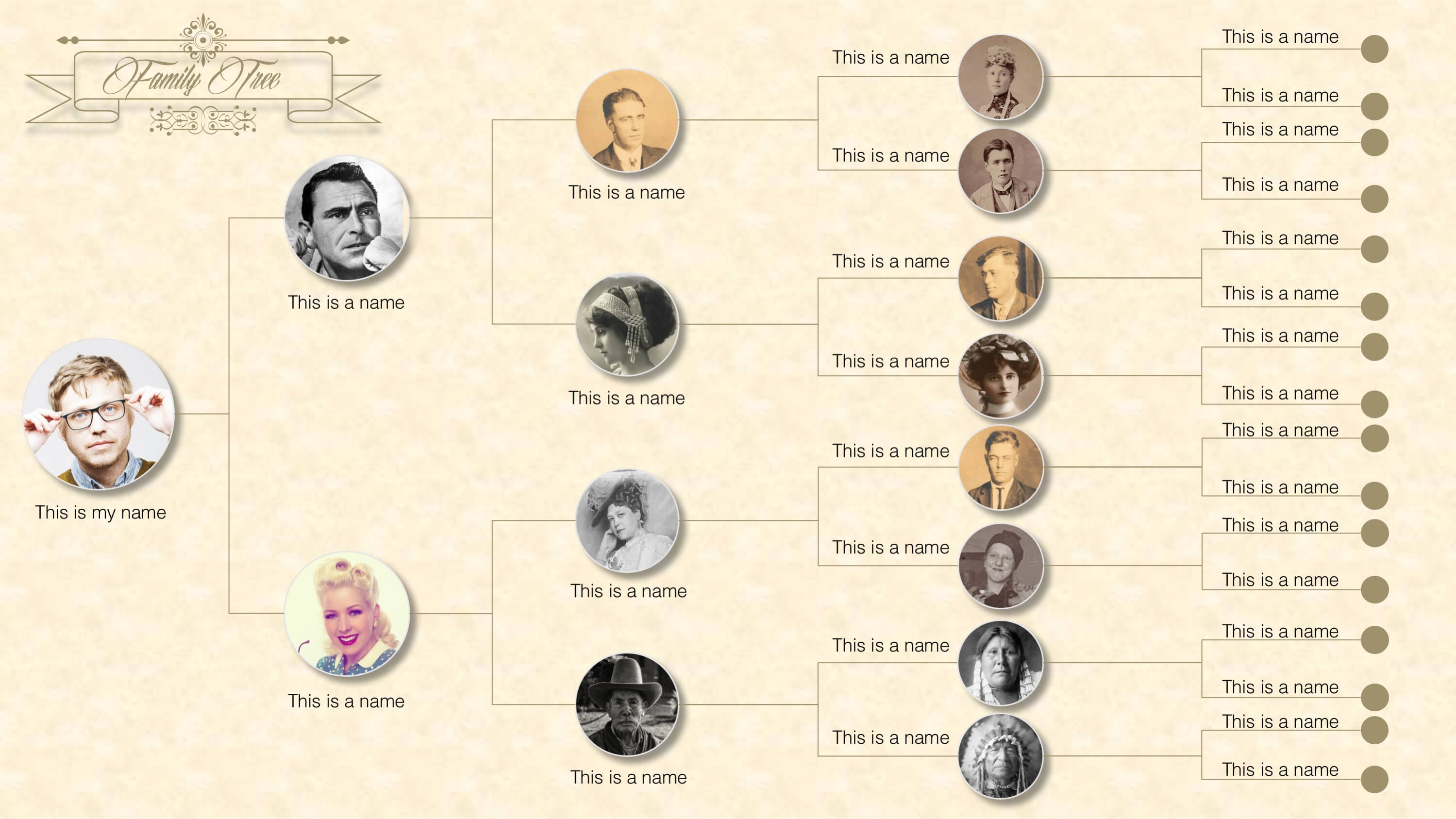 Family Tree Powerpoint Templates Inside Powerpoint Genealogy Template