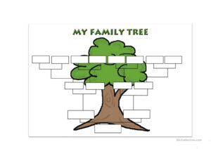 Family Tree Template – English Esl Worksheets in Fill In The Blank Family Tree Template