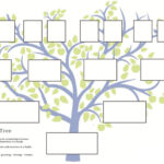 Family Tree Template Word 2007 Intended For Fill In The Blank Family Tree Template