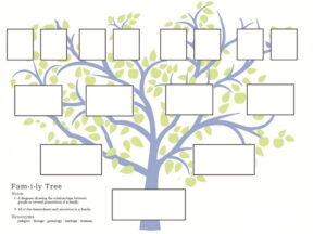Family Tree Template Word 2007 with 3 Generation Family Tree Template Word