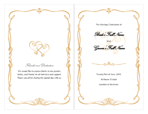 Fan Template Free Download | Wedding Program Template – Doc regarding Free Printable Wedding Program Templates Word