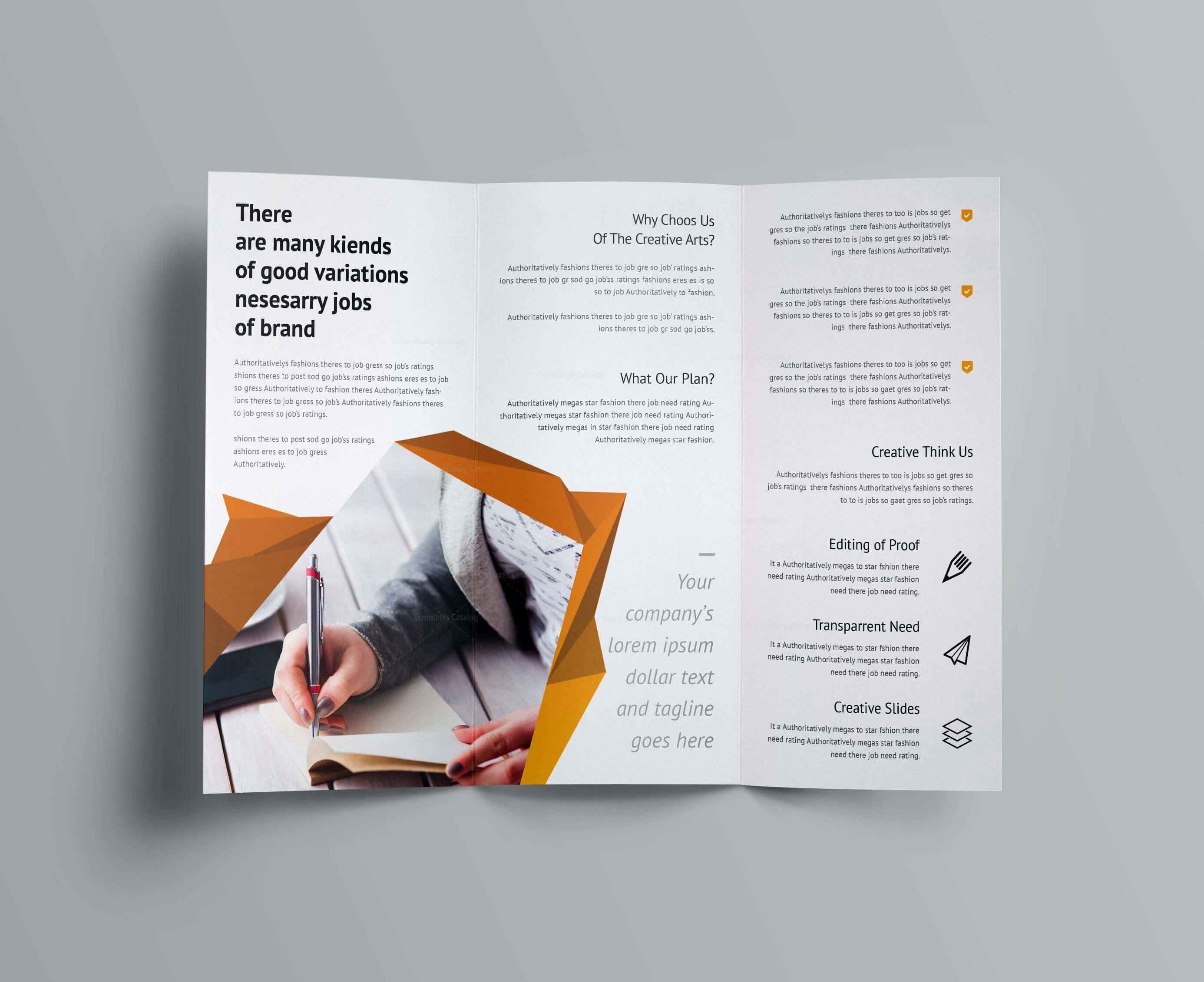 Fancy Business Tri Fold Brochure Template 001170 | Brochure Within Fancy Brochure Templates