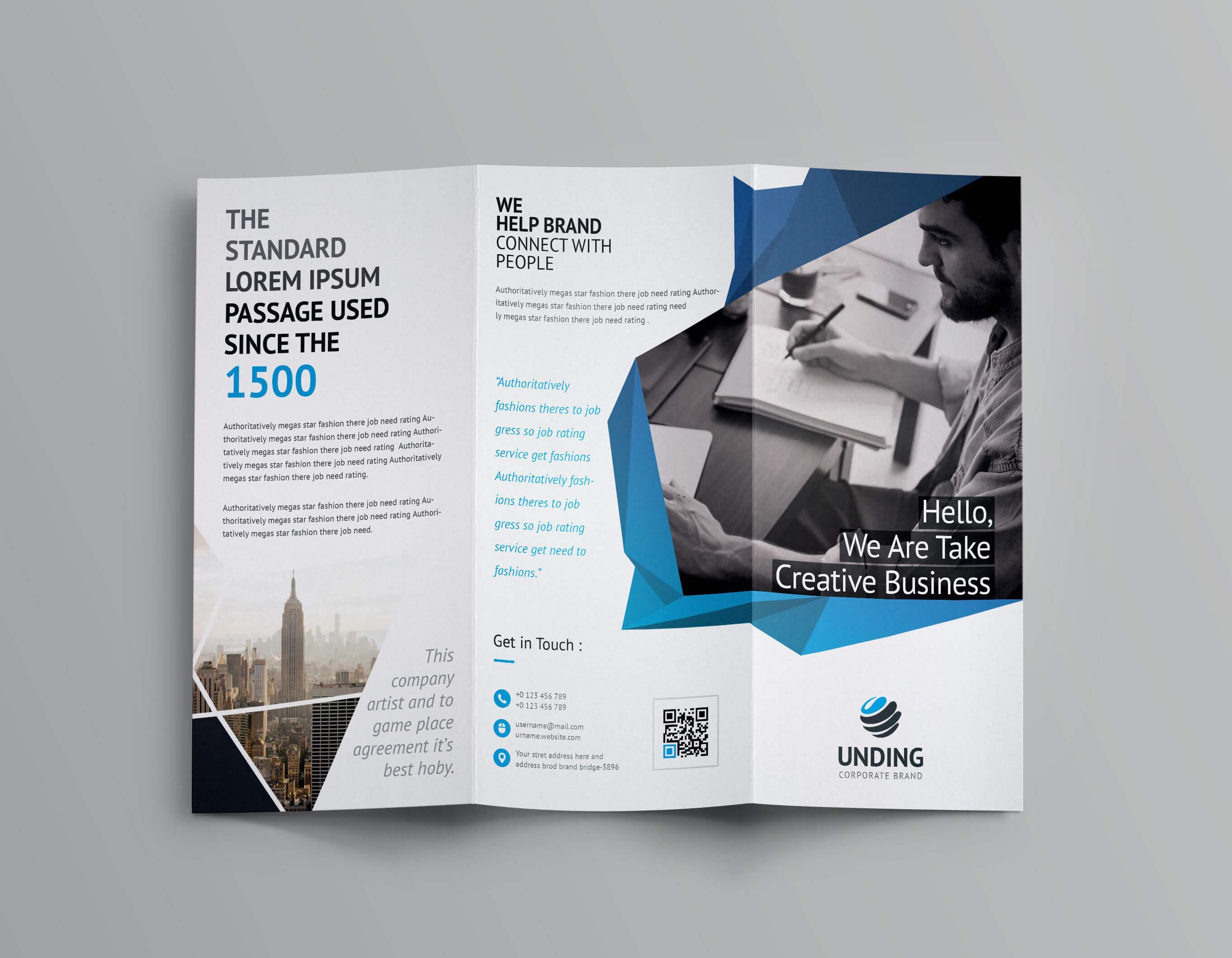Fancy Business Tri Fold Brochure Template | Brochure Within Fancy Brochure Templates
