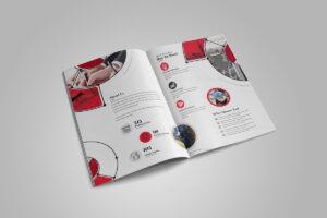 Fancy Stylish Bi-Fold Brochure Template 000727 in Fancy Brochure Templates