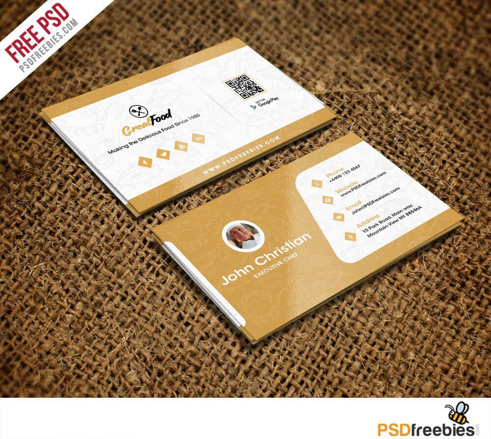 Fantastic Business Cards Psd Templates For Free - Chef Inside Christian Business Cards Templates Free