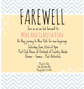 Farewell Invite | Picmonkey Creations | Farewell Party with Farewell Invitation Card Template