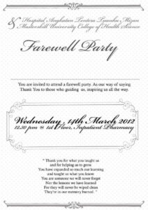 Farewell Party Invitation Note | Party Invitation Card In with regard to Farewell Invitation Card Template
