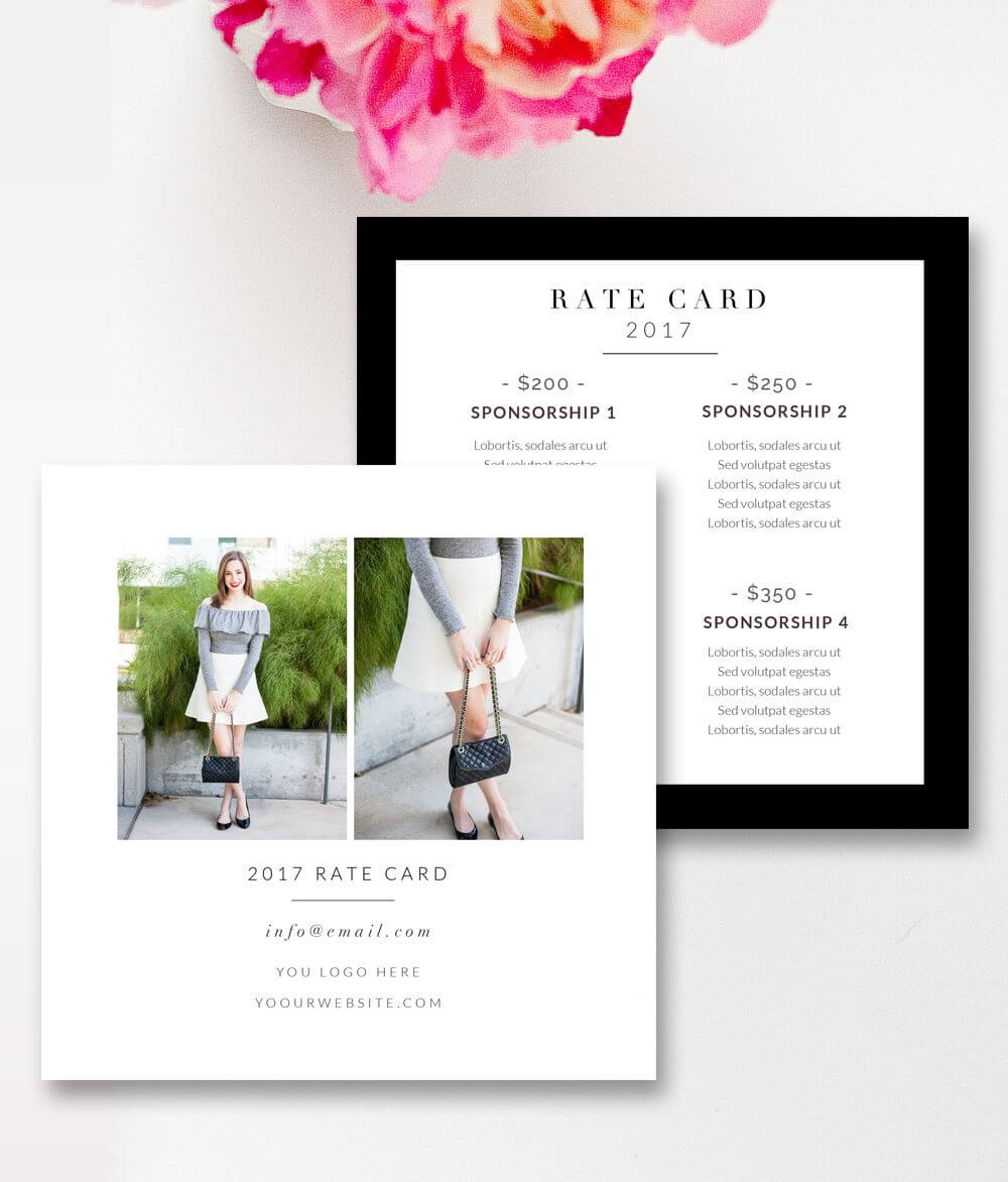 Fashion & Beauty Blogger Rate Card Template |Stephanie pertaining to Rate Card Template Word