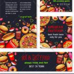 Fast Food Meal For Restaurant Banner Template Inside Food Banner Template