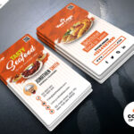 Fast Food Restaurant Business Card Psdpsd Freebies On Throughout Restaurant Business Cards Templates Free