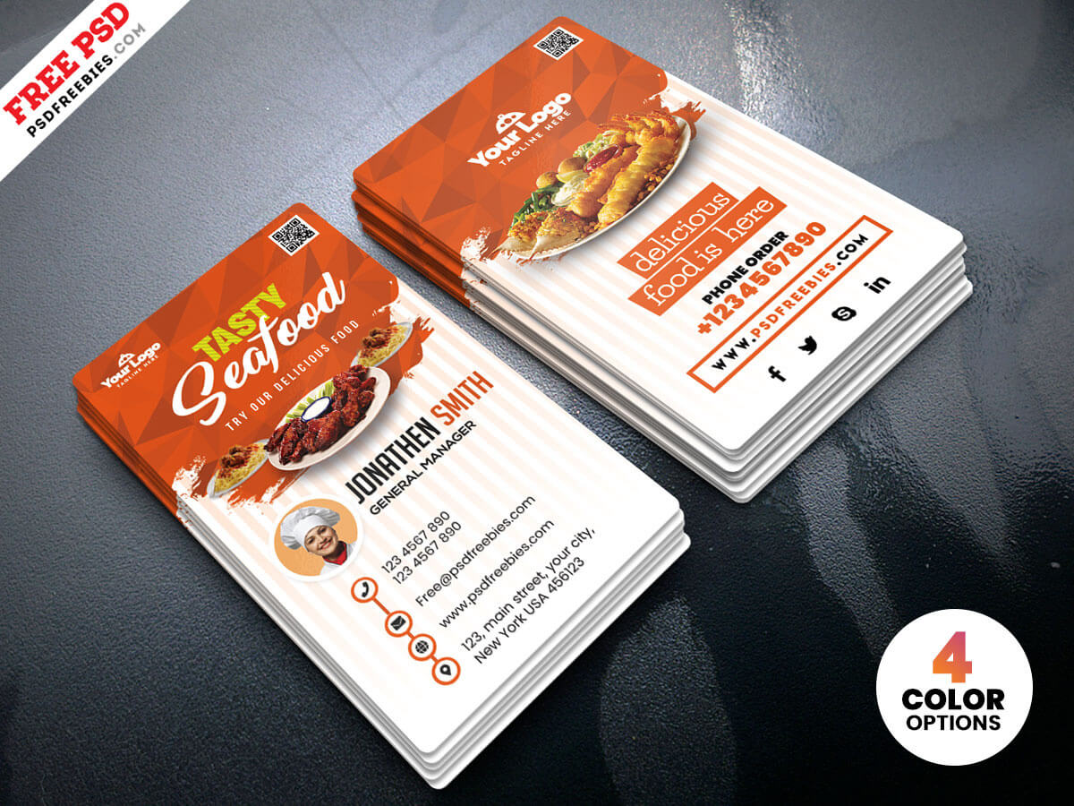 Fast Food Restaurant Business Card Psdpsd Freebies On With Food Business Cards Templates Free