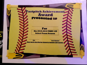 Fastpitch/softball Awards Certificate. | Softball within Softball Award Certificate Template