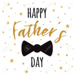 Fathers Day Banner Design With Lettering, Black Bow Tie Butterfly Regarding Tie Banner Template