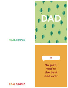 Father's Day Printable Cards | Real Simple for Fathers Day Card Template