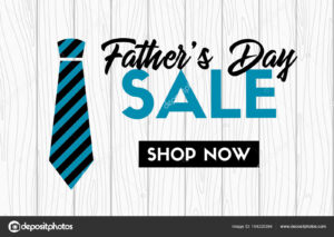 Fathers Day Sale Vector Banner With Necktie. Web Promotional Within Tie Banner Template